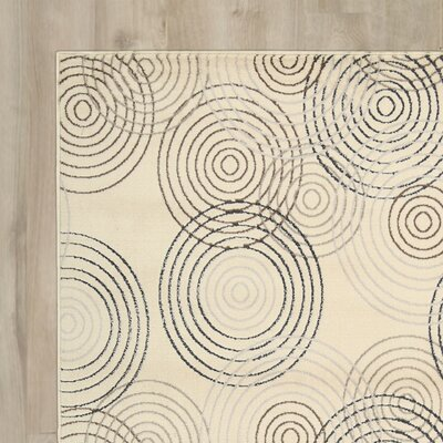 Densmore Ivory Area Rug Rug Size: Rectangle 32 x 5