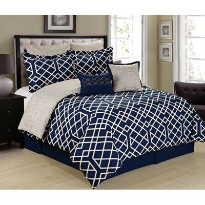 Beryl Reversible Comforter Set Size: King