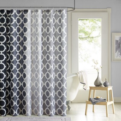 Ada 14 Piece Shower Curtain Set Color: Black