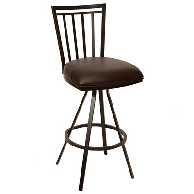 Alma 26 Swivel Bar Stool Upholstery: Coffee