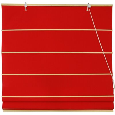 Cotton Roman Shades Blinds Size: 36 W x 72 L, Color: Red