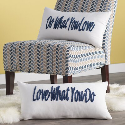 What You Love Embroidered Lumbar Pillow Set