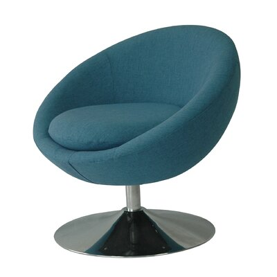 Annabelle Swivel Papasan Chair Upholstery: Denim