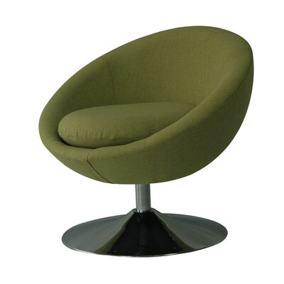 Annabelle Swivel Papasan Chair Upholstery: Grasscloth