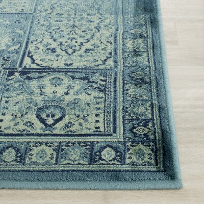 Todd Vintage Turquoise Area Rug Rug Size: Rectangle 3 x 5