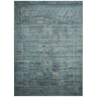 Todd Vintage Turquoise Area Rug Rug Size: 3 x 5