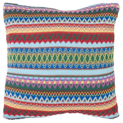 Aurelia Burst Throw Pillow Size: 18, Color: Sky Blue Burst