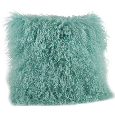 Becky Throw Pillow Color: Mint, Size: 16 L x 16 W