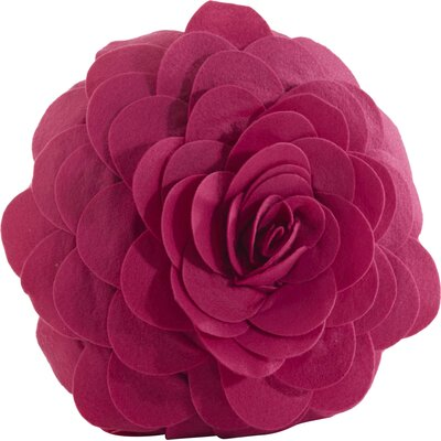 Belinda 100% Cotton Throw Pillow Color: Fuchsia