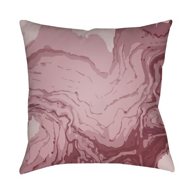 Bernadine Throw Pillow Size: 18 H x 18 W x 4 D, Color: Red