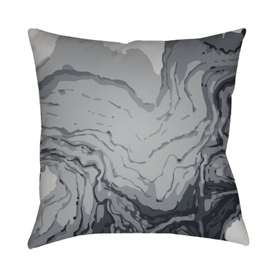 Bernadine Throw Pillow Size: 22 H x 22 W x 4 D, Color: Grey
