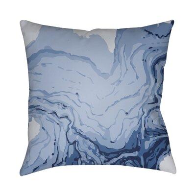 Bernadine Throw Pillow Size: 20 H x 20 W x 4 D, Color: Blue