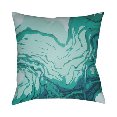 Bernadine Throw Pillow Color: Turquoise, Size: 20 H x 20 W x 4 D