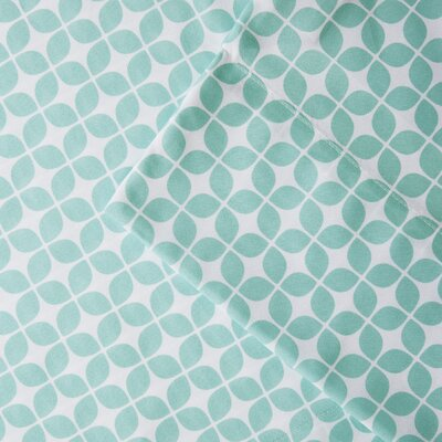 Daphne Microfiber Sheet Set Color: Aqua, Size: Full