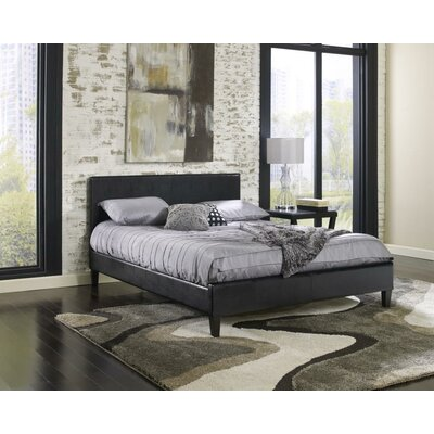 Wilmer Upholstered Platform Bed Size: Queen, Color: Black