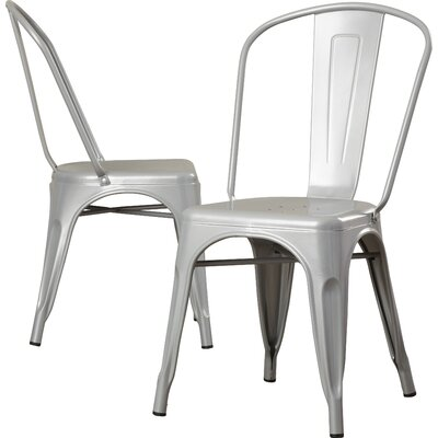 Louisa Dining Chair Color: Silver