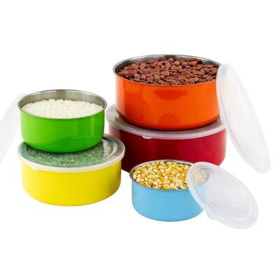 Velazco 10 Piece Colorful Stainless Steel Mixing Bowl Set ZIPC3314 30054499