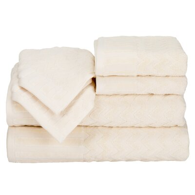 Regina 6 Piece Chevron Towel Set Color: Bone