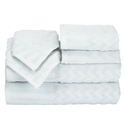 Regina 6 Piece Chevron Towel Set Color: Seafoam