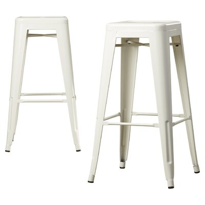 Louisa 30.5 Bar Stool Finish: White