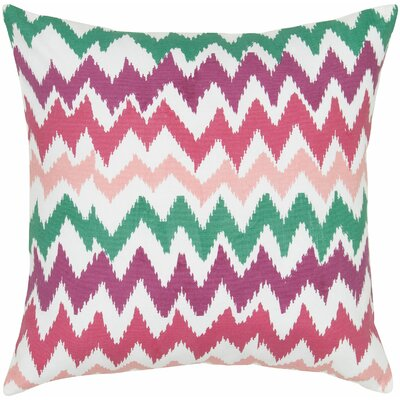 Lucinda Charla Cotton Pillow Cover Color: Pink