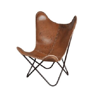 Sharon Butterfly Lounge Chair Upholstery: Anti-Brown