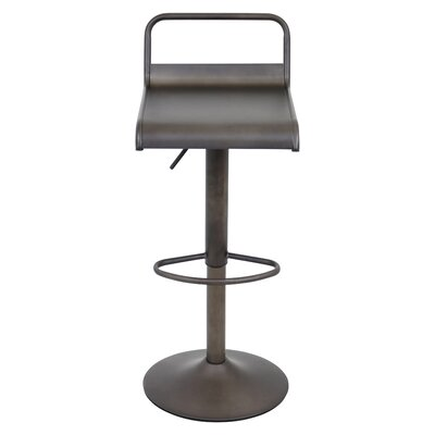 Willa Adjustable Height Swivel Bar Stool Upholstery: Antique