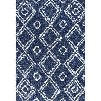 Alexa Lola Blue Area Rug Rug Size: Rectangle 53 x 76