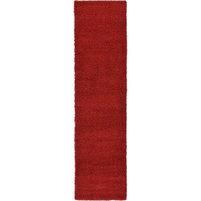 Madison Basic Red Area Rug Rug Size: Runner 26 x 10, Color: Red