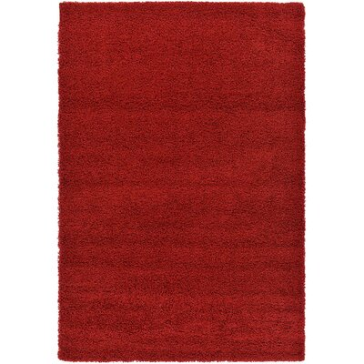Madison Basic Red Area Rug Rug Size: 6 x 6, Color: Red