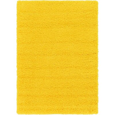Madison Basic Dark Yellow Area Rug Rug Size: Rectangle 9 x 12, Color: Yellow