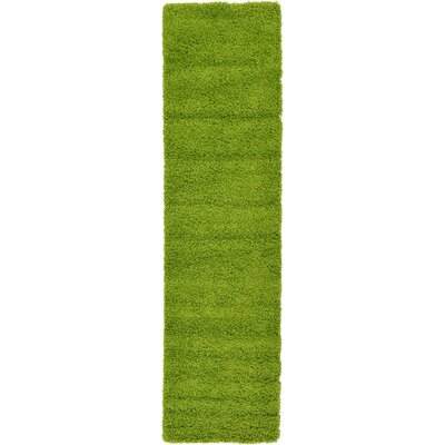 Madison Basic Apple Green Area Rug Rug Size: Runner 22 x 65, Color: Color