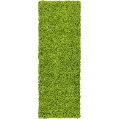 Madison Basic Apple Green Area Rug Rug Size: Runner 26 x 10, Color: Color