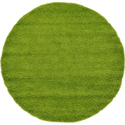 Madison Basic Apple Green Area Rug Rug Size: Round 6, Color: Color