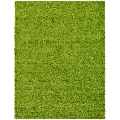 Madison Basic Apple Green Area Rug Rug Size: 9 x 12, Color: Color