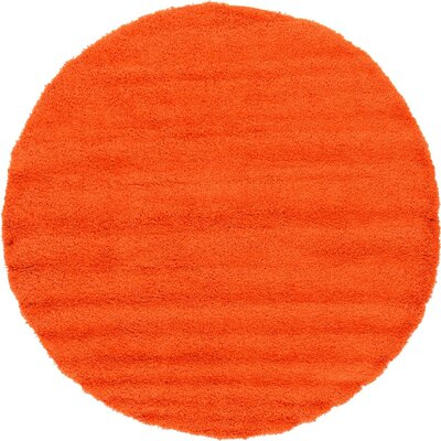 Madison Orange Area Rug Rug Size: 9 x 12, Color: Orange