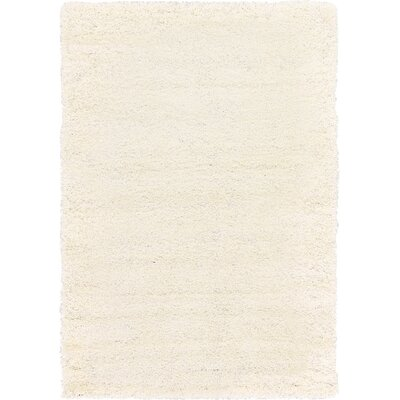 Madison Snow White Area Rug Rug Size: 6 x 9, Color: Ivory