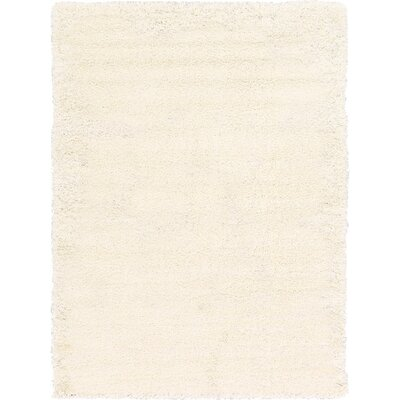 Madison Snow White Area Rug Rug Size: 8 x 11, Color: Ivory