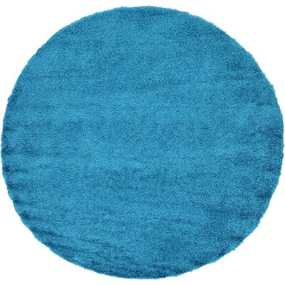 Madison Area Rug Rug Size: Round 6', Color: Blue