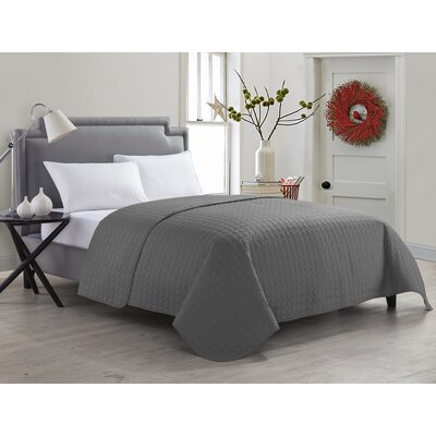 Marianne Quilt Color: Gray, Size: Full/Queen