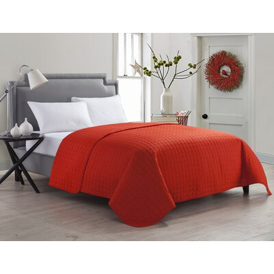 Marianne Quilt Color: Mandarin Red, Size: Twin