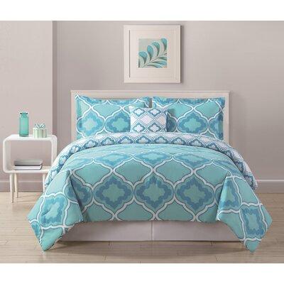 Sarah Comforter Size: Twin XL, Color: Aqua