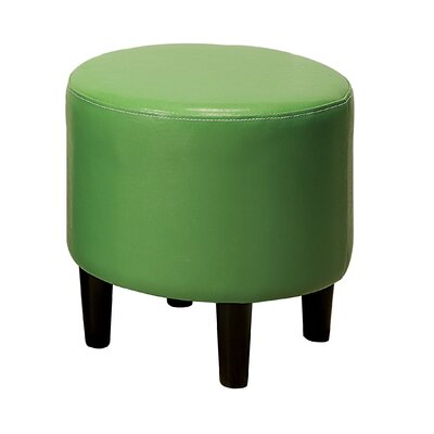 Sheila Ryker Padded Round Ottoman Upholstery: Green