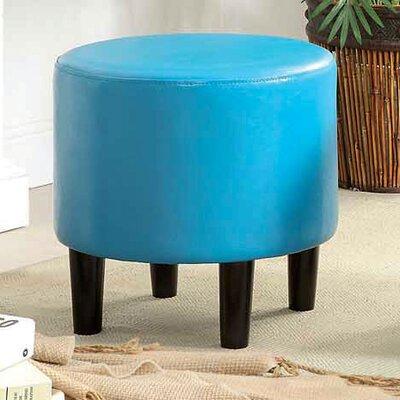 Sheila Ryker Padded Round Ottoman Upholstery: Light Blue