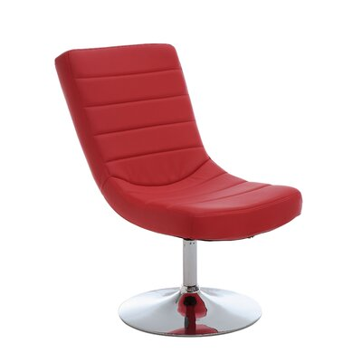 Gretchen Lounge Chair and Ottoman Upholstery: Red