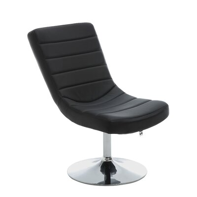 Gretchen Lounge Chair and Ottoman Upholstery: Black