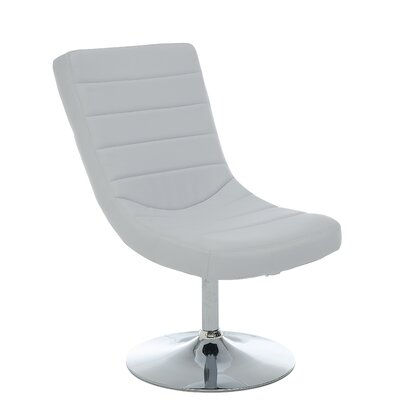 Gretchen Lounge Chair and Ottoman Upholstery: White