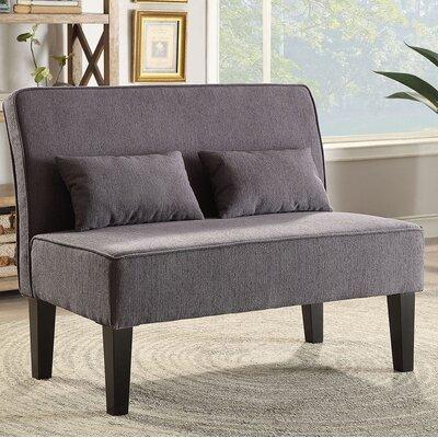 Joyce Contemporary Loveseat Upholstery: Gray