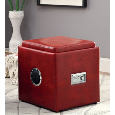 Waller Storage Ottoman Upholstery: Red