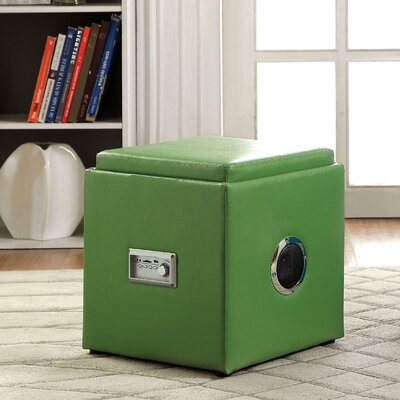 Waller Storage Ottoman Upholstery: Green